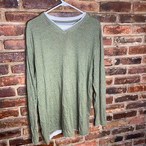 ♦️Cactus Men's Long Sleeve Green Shirt Size XL